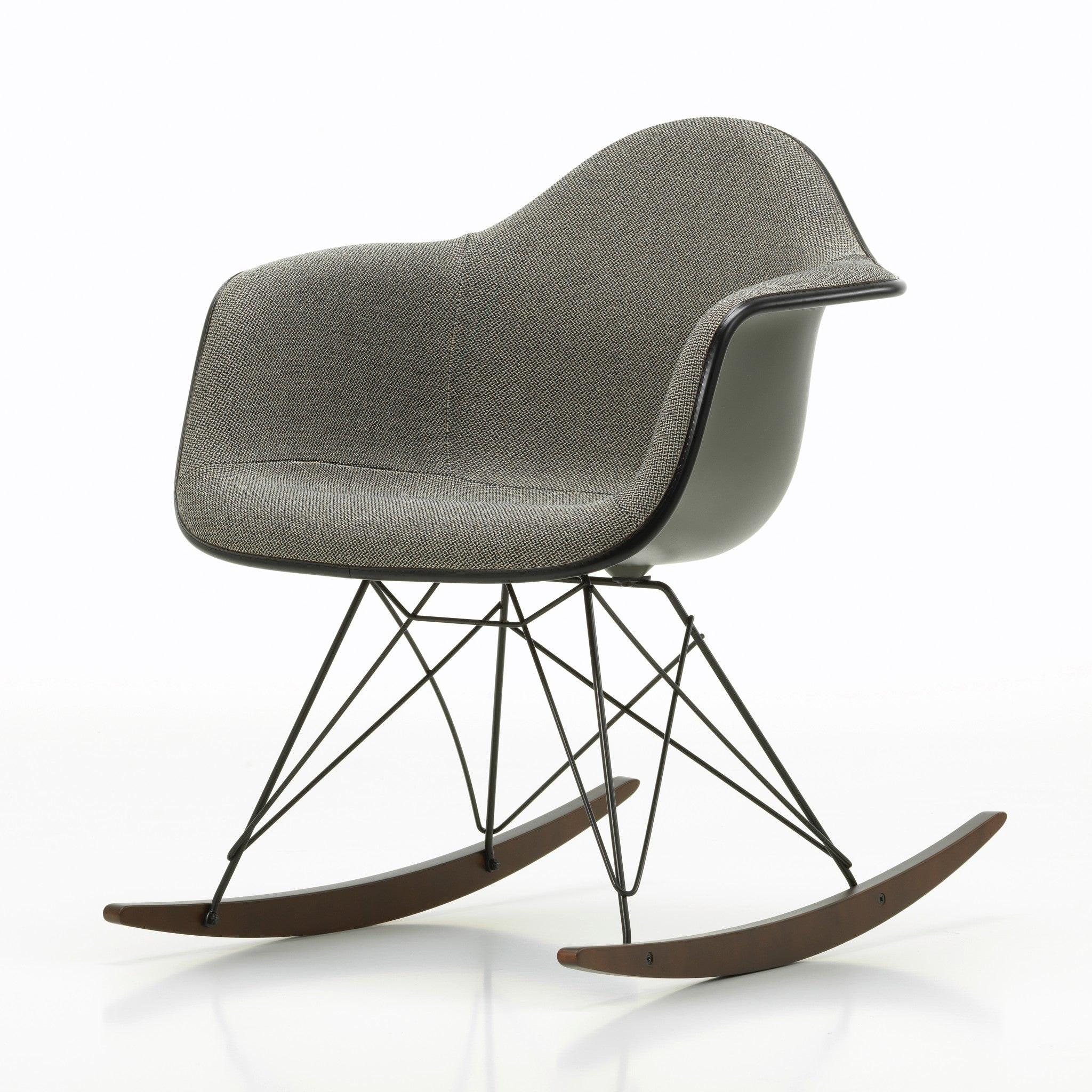 Eames Plastic Rocking Chair RAR Upholstered by Vitra