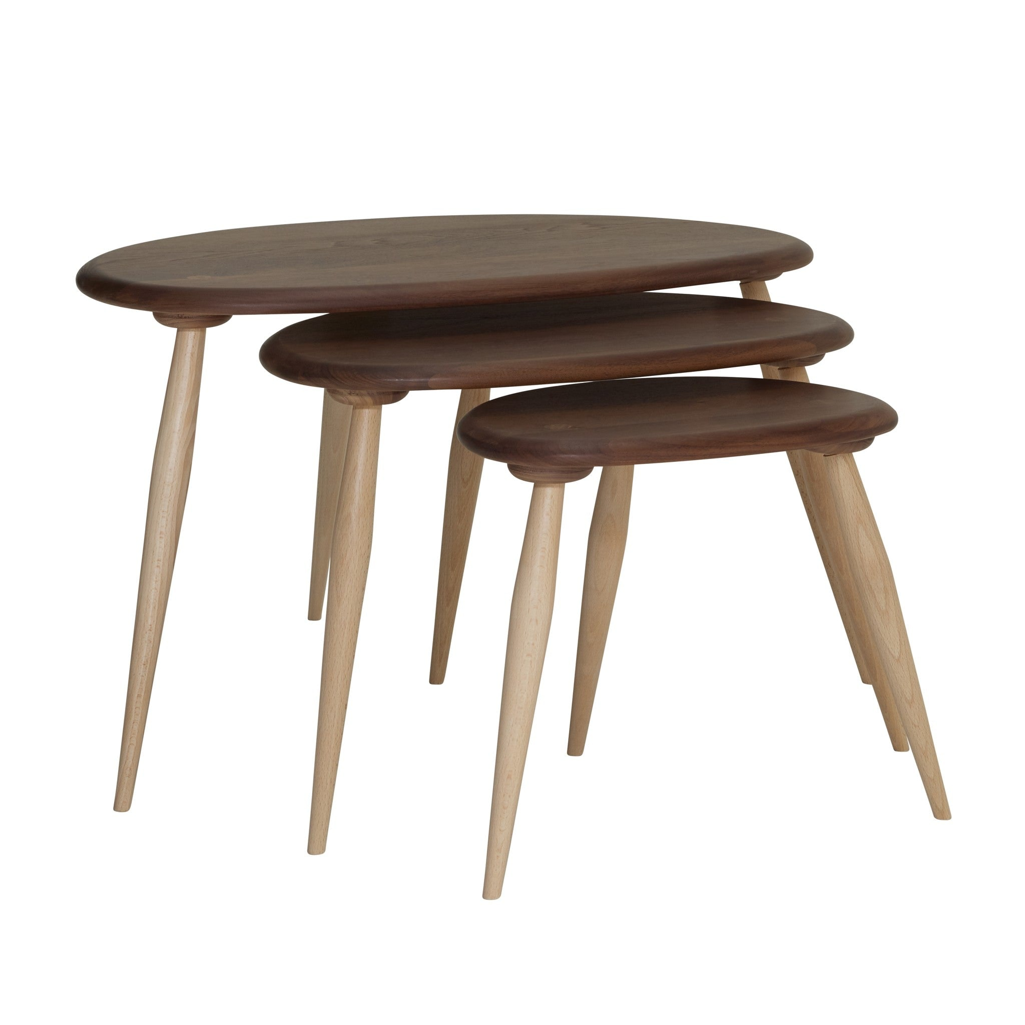 Originals Nest of Tables with Walnut Top by Ercol