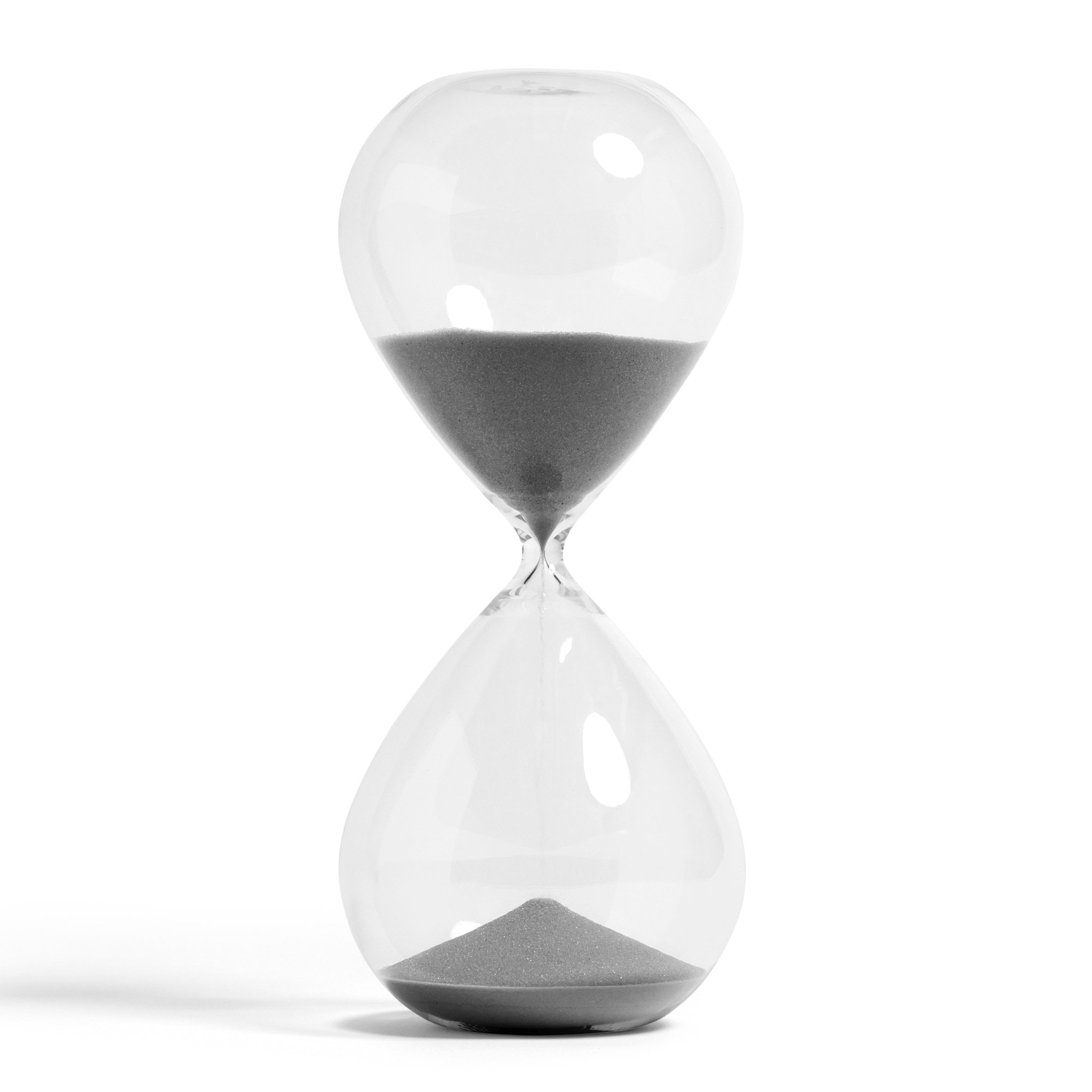 Silver XXXL Time Hourglass by Hay