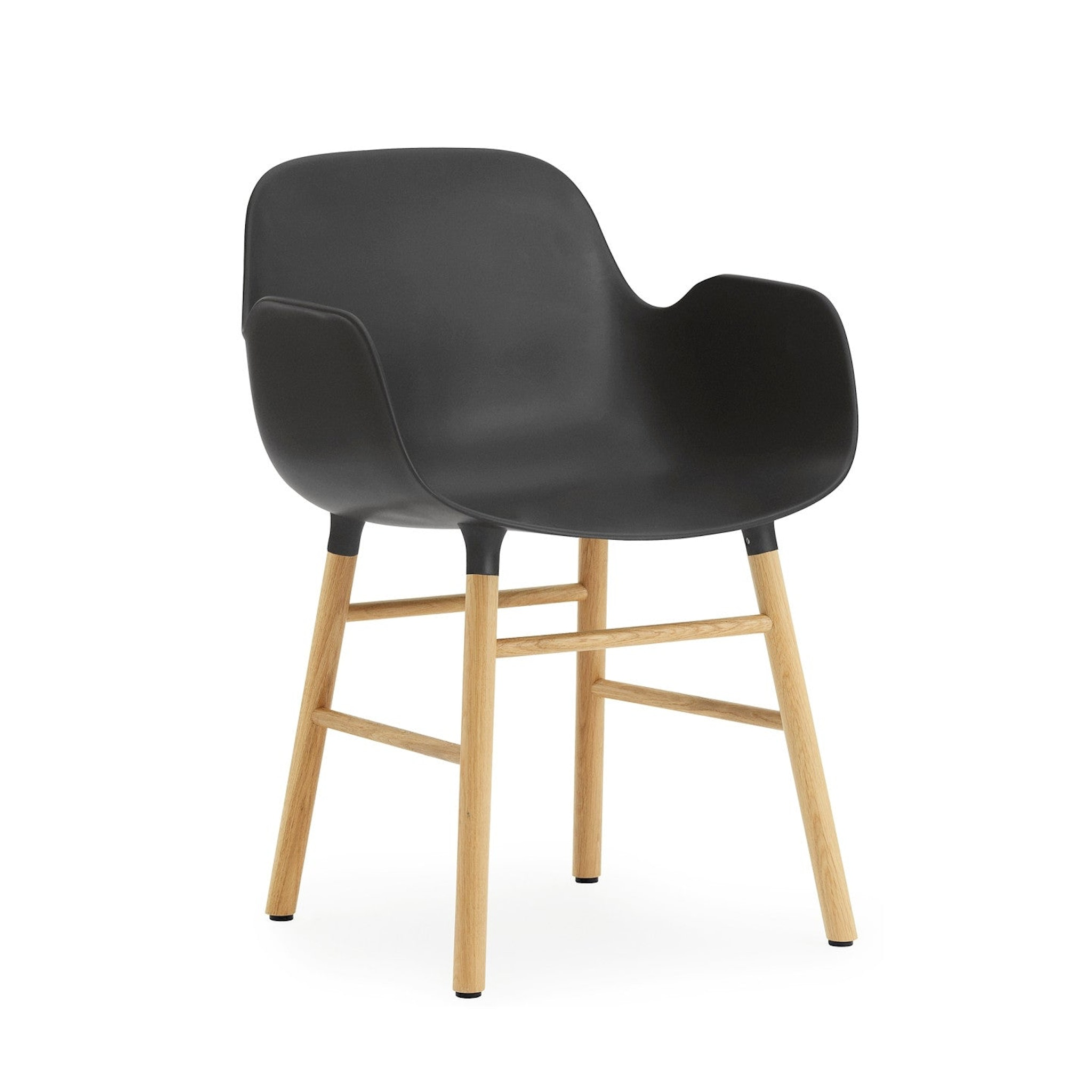 Form Armchair with Wooden Base by Normann Copenhagen