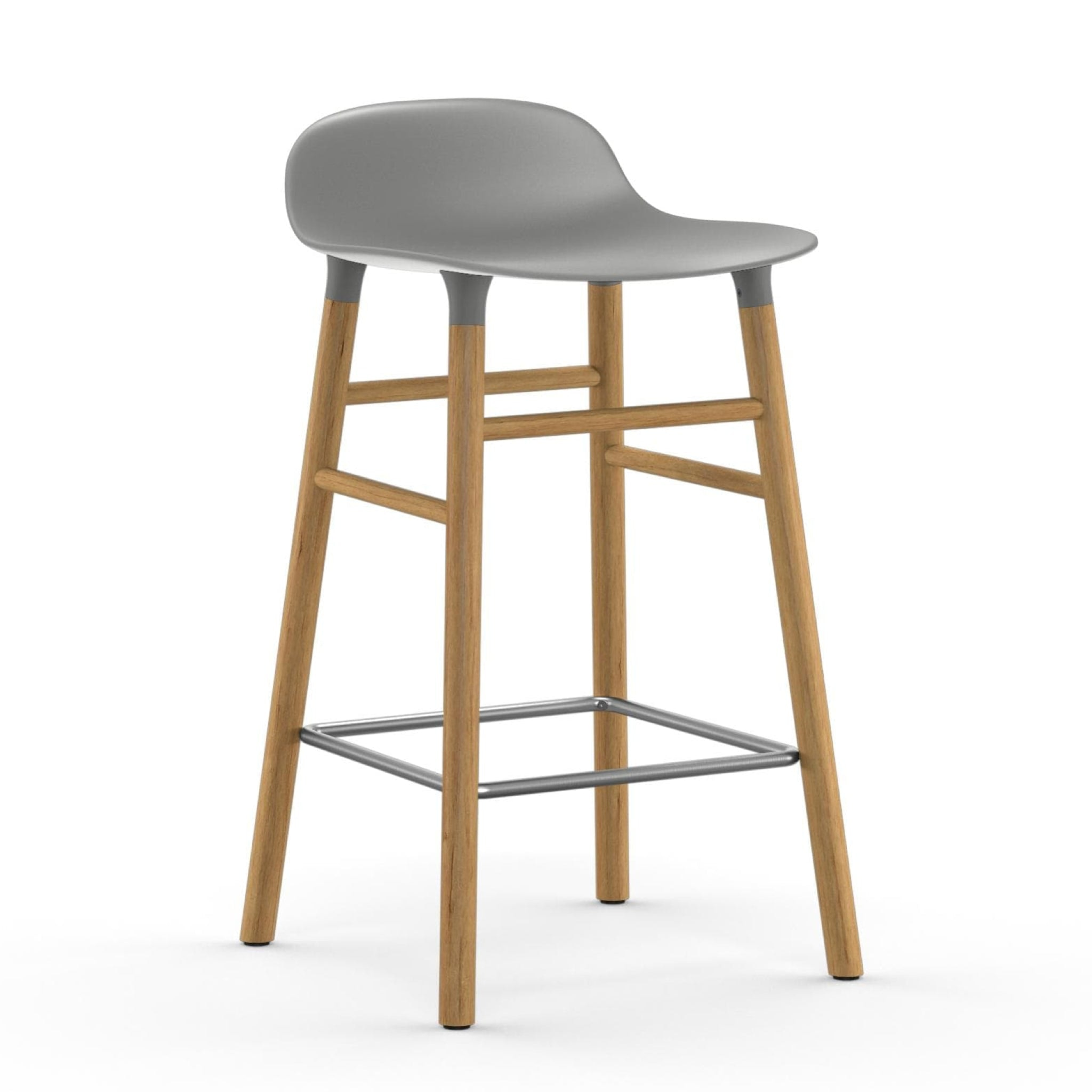 Form Bar Stool with Wooden Base by Normann Copenhagen