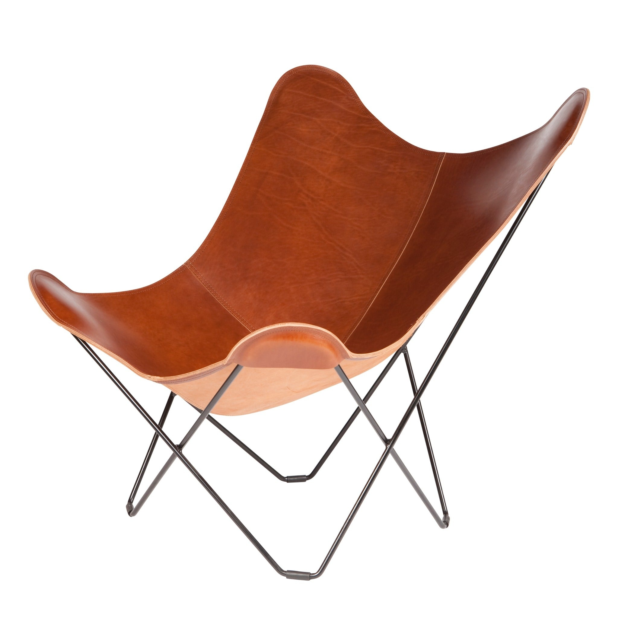 Mariposa Butterfly Leather Chair by Cuero