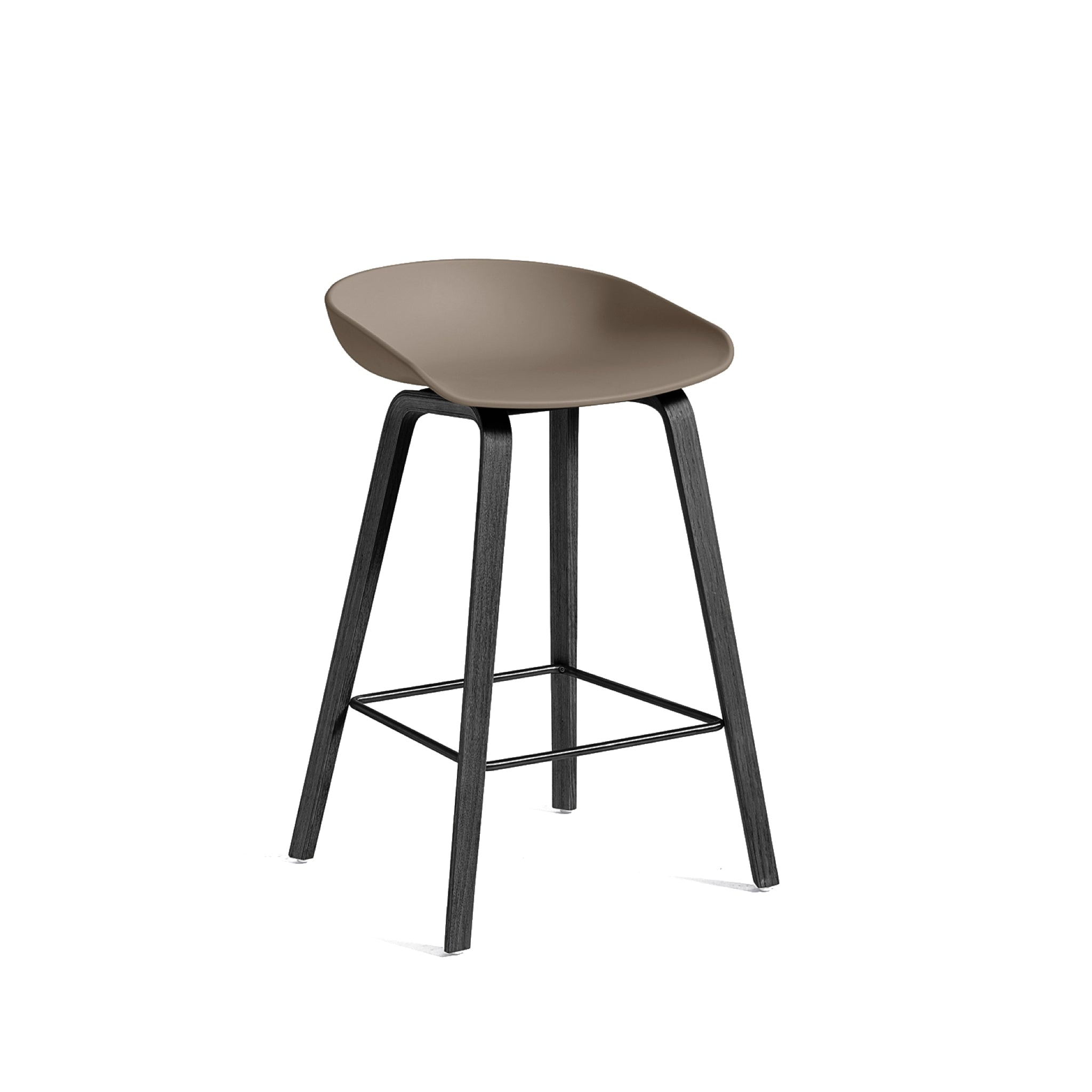 About a Stool AAS 32 Low - Wooden Base by Hay