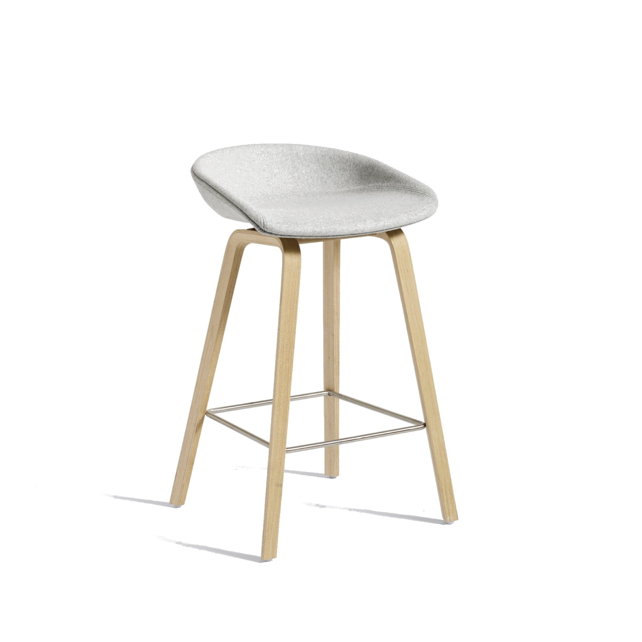 About a Stool AAS 33 - Wooden Base by Hay