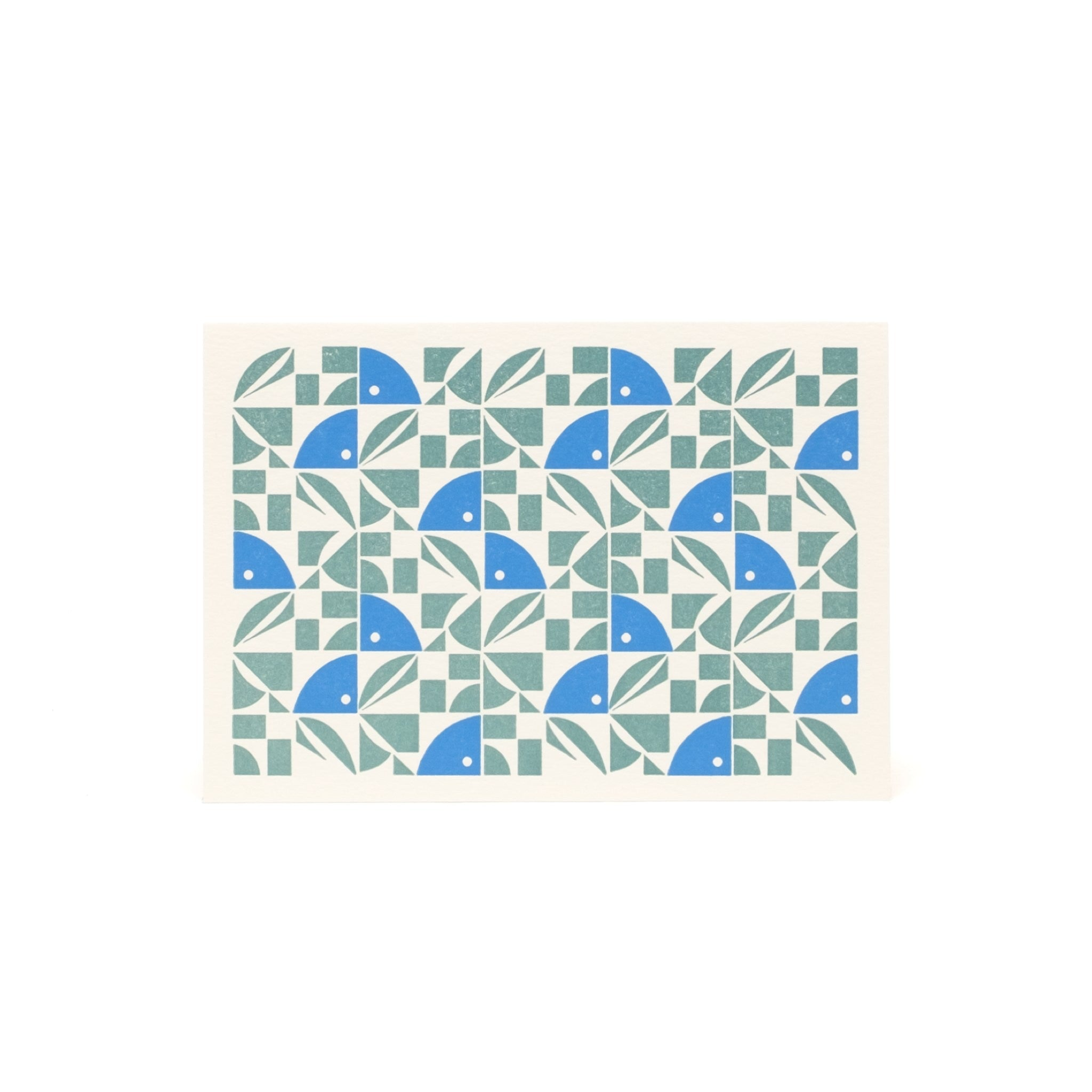 Bloom Letterpress Card - Blue and Green by Esme Winter
