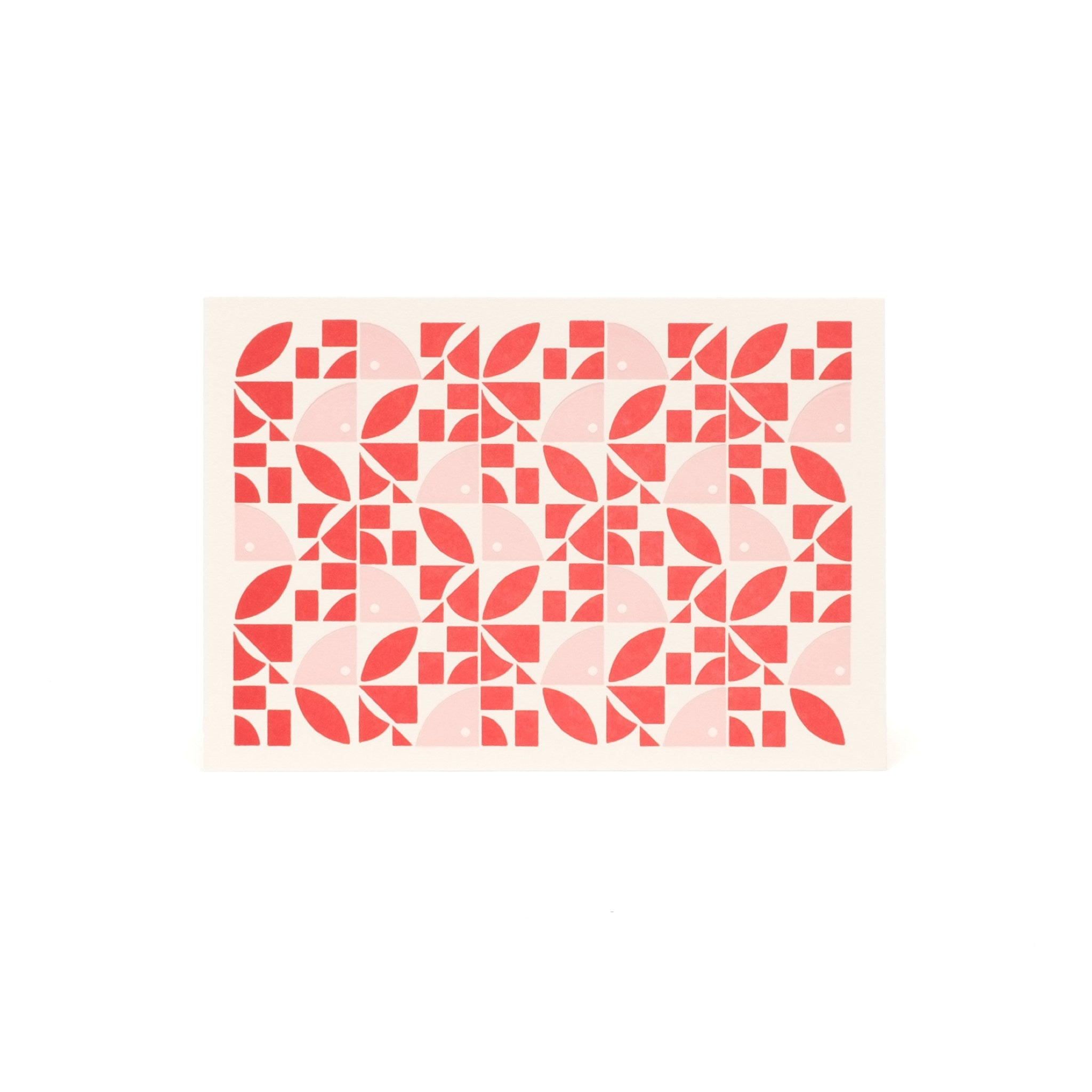 Bloom Letterpress Card - Red and Pink by Esme Winter