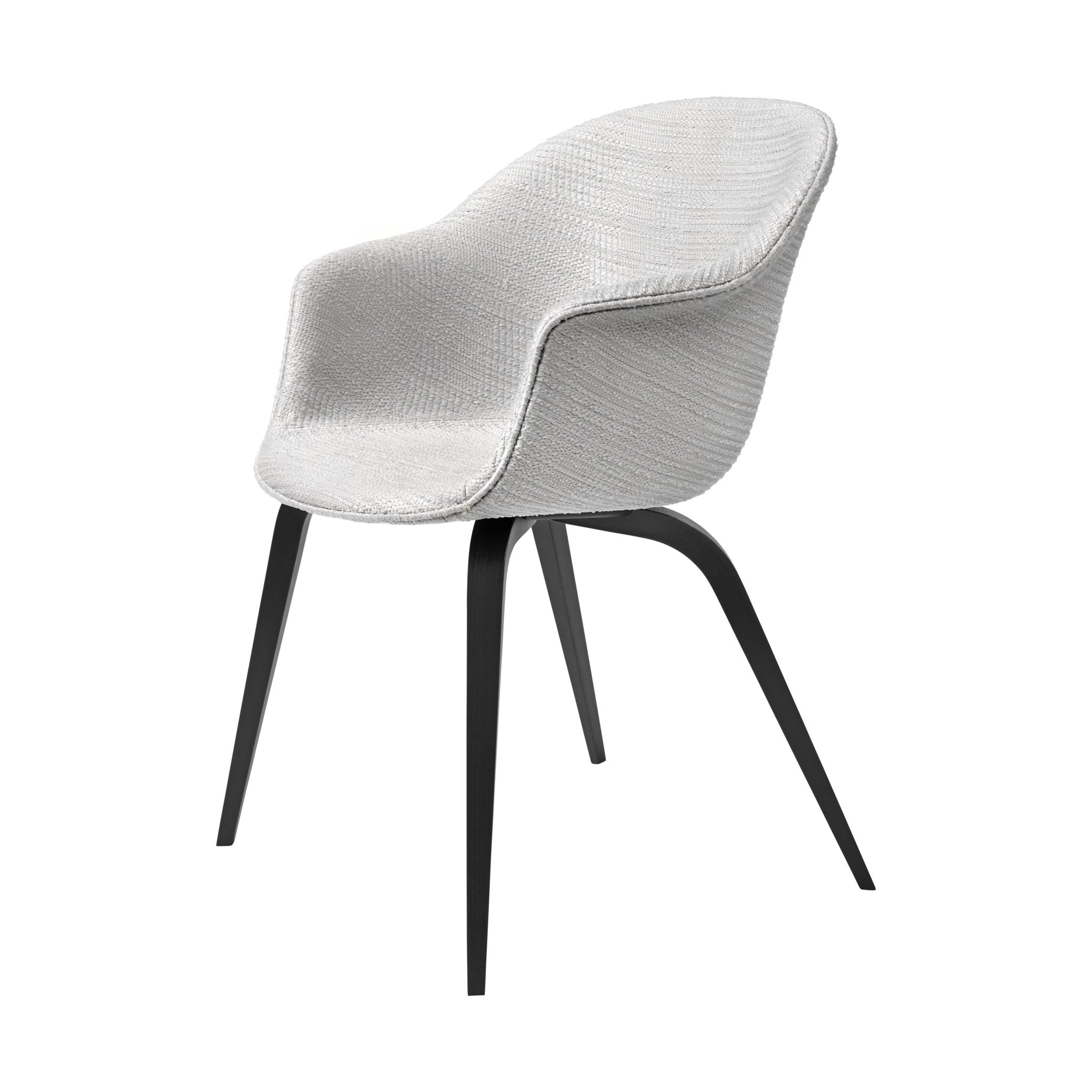Bat Dining Chair Wood Base Upholstered by Gubi