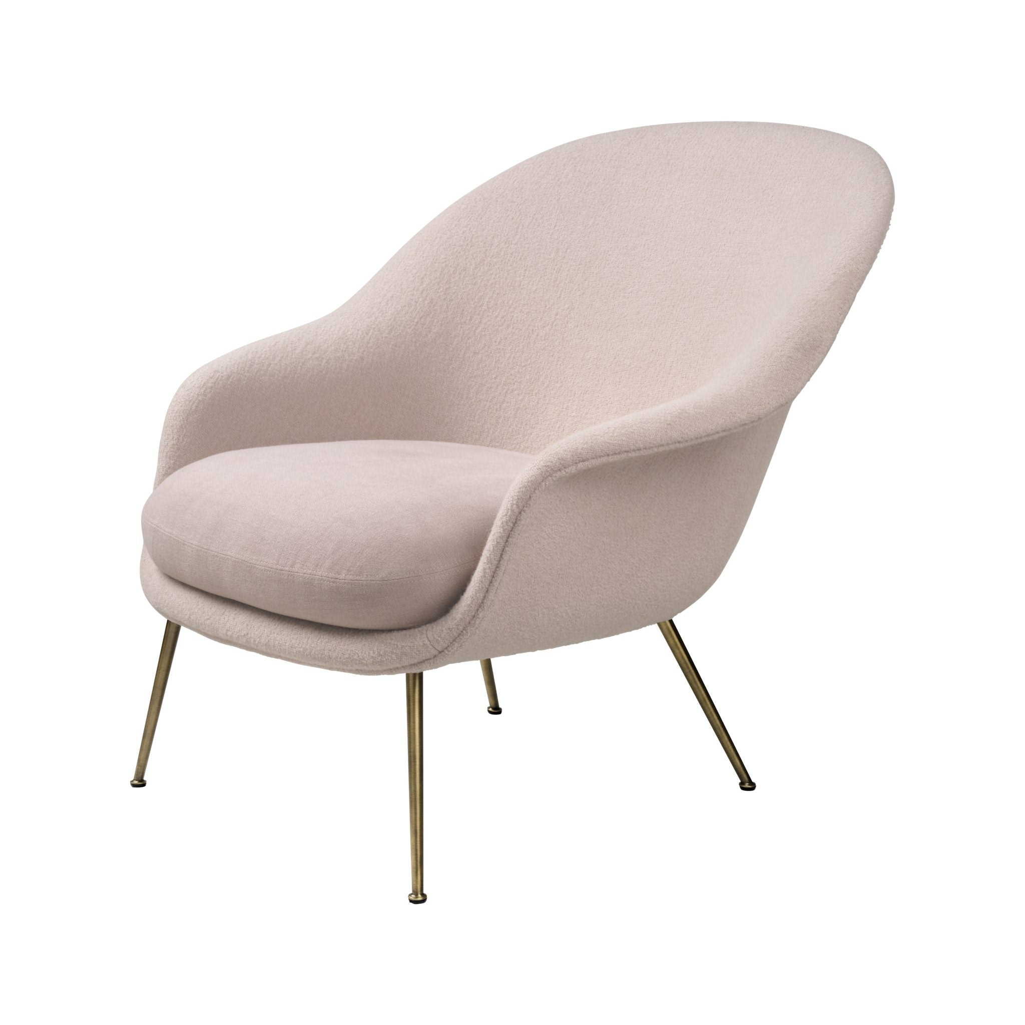 Bat Lounge Chair Low Back Conic Base by Gubi