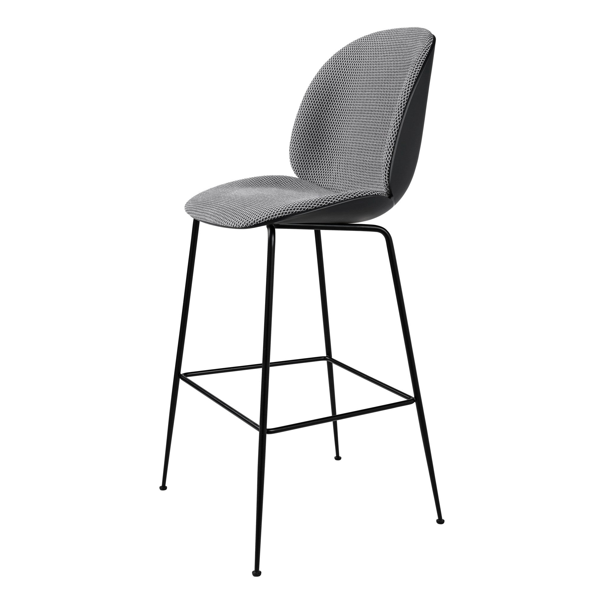 Beetle Bar Chair H75cm Front Upholstered by Gubi