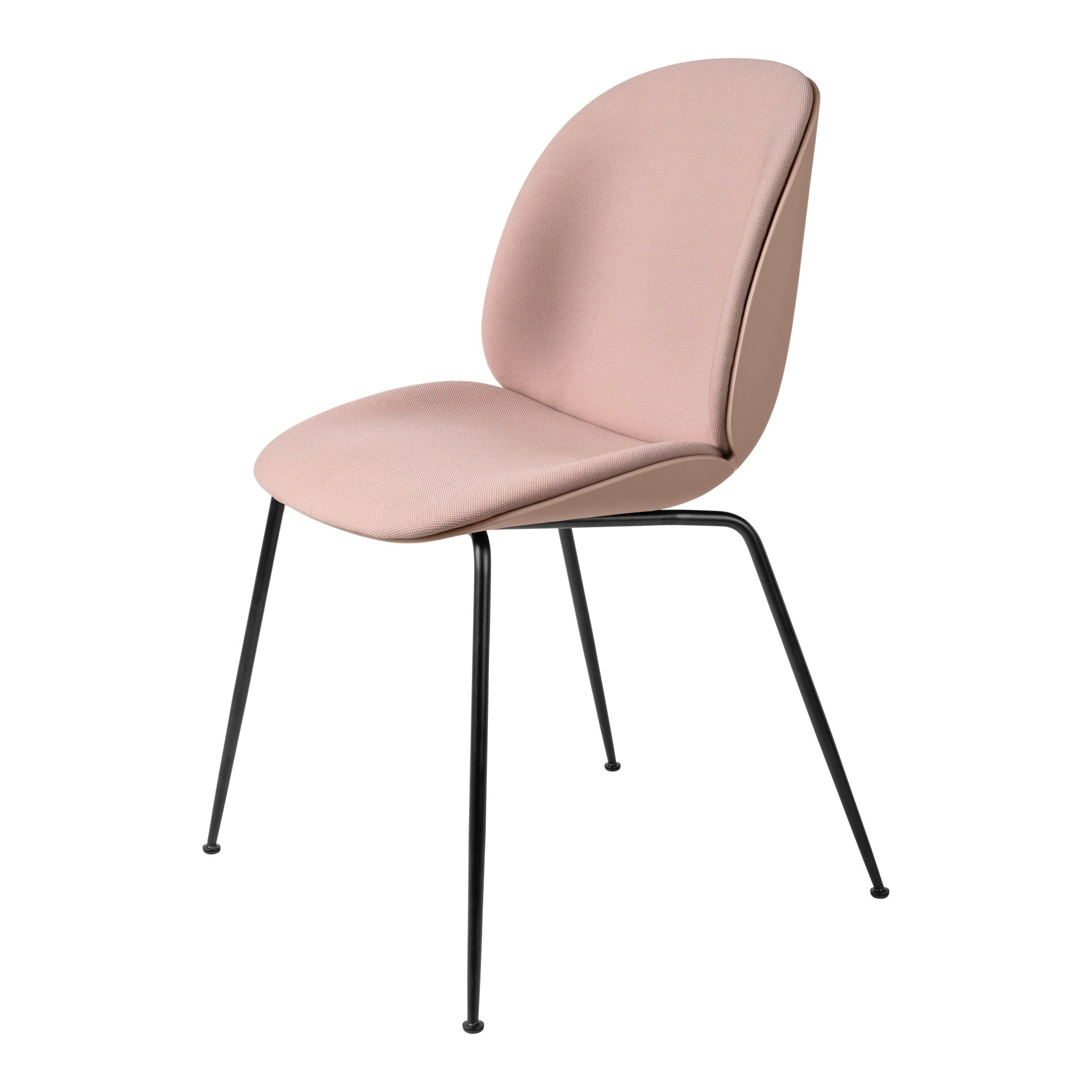 Beetle Dining Chair Conic Base Front Upholstered by Gubi