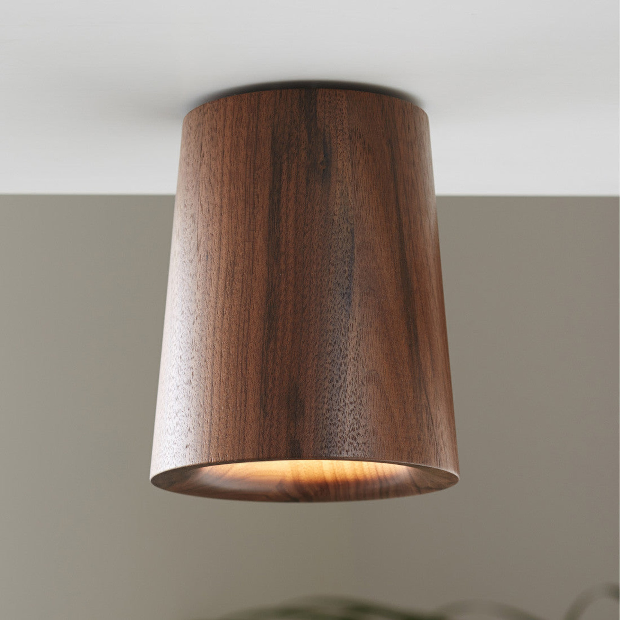 Solid Downlight Cone - Wood by Terence Woodgate