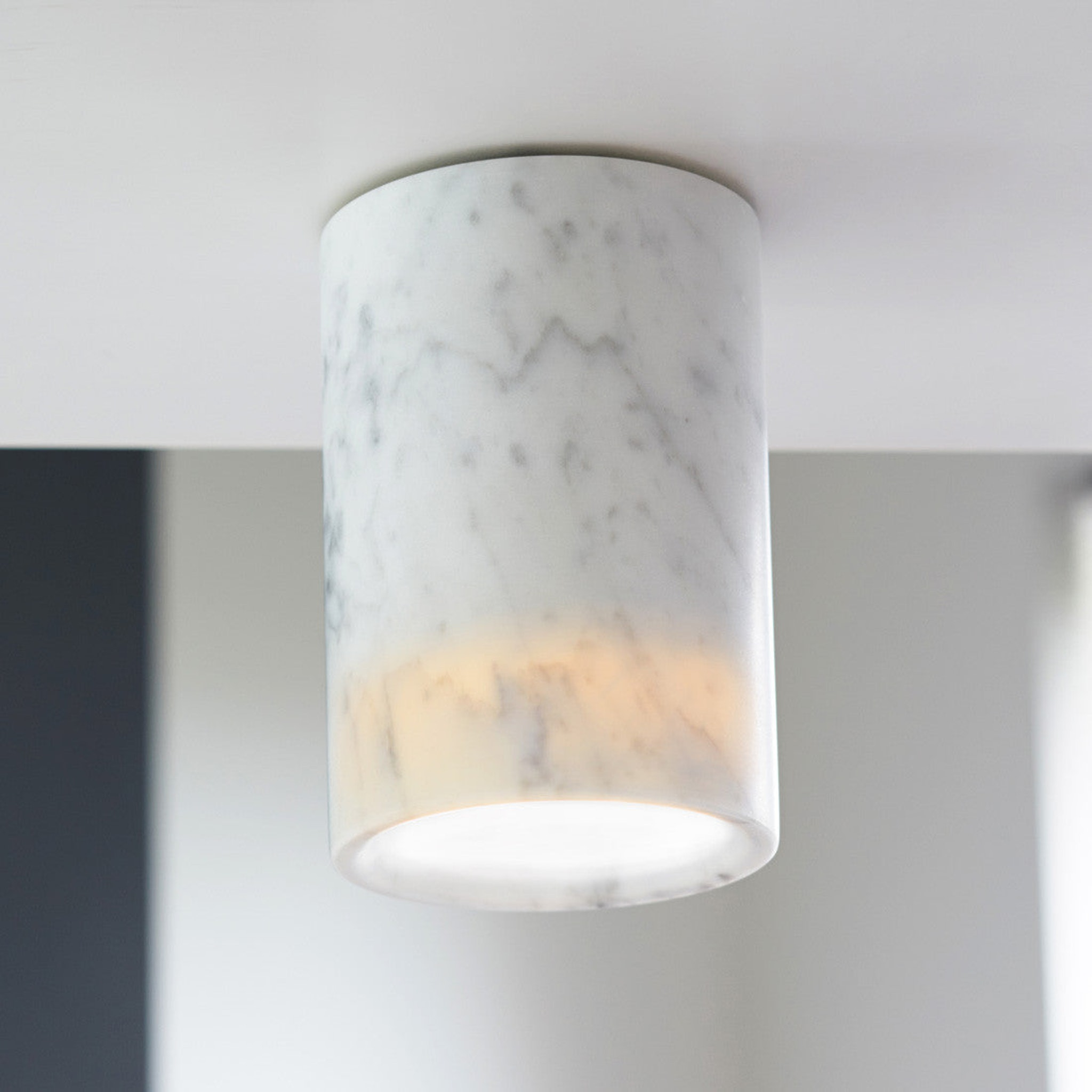 Solid Downlight Cylinder - Marble by Terence Woodgate