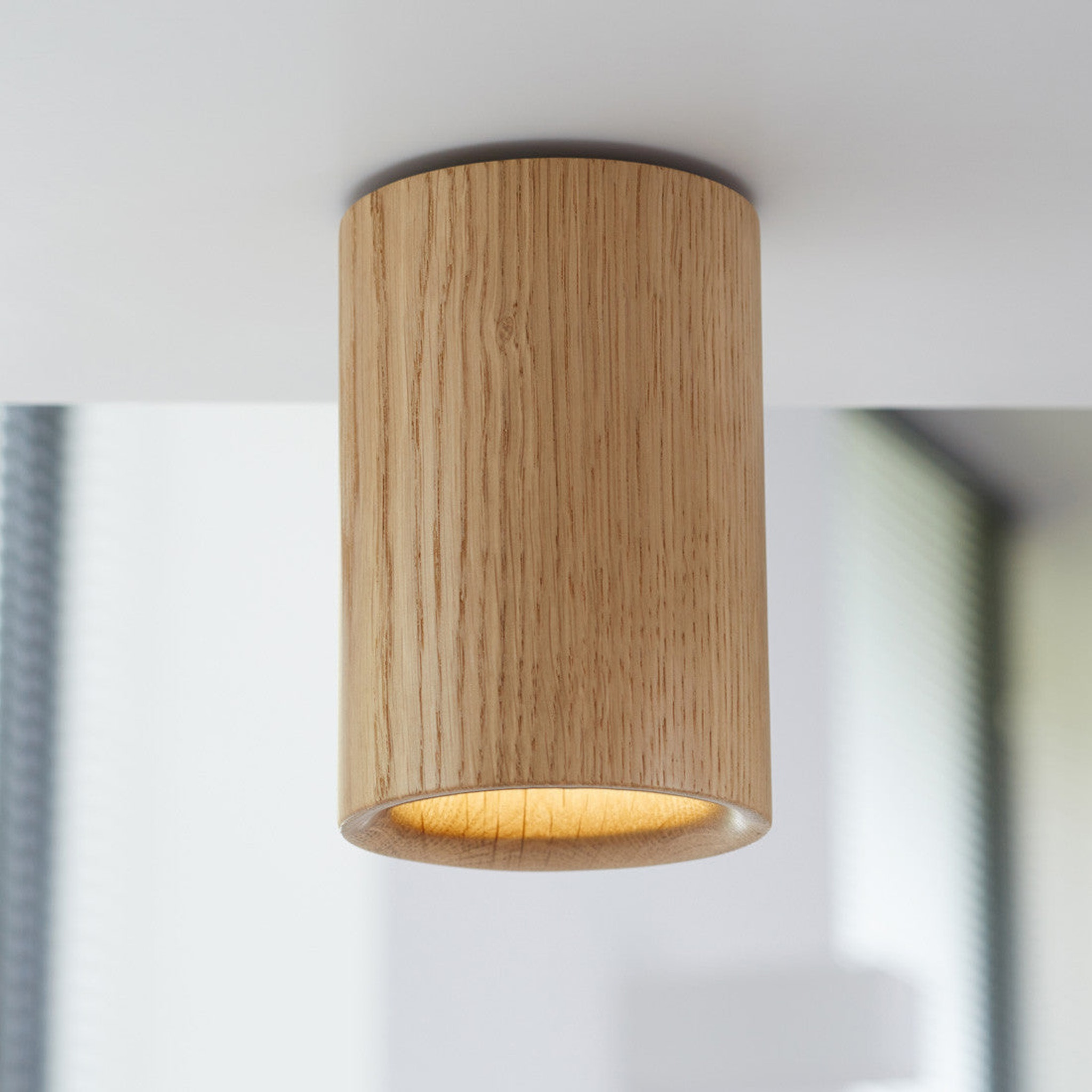 Solid Downlight Cylinder - Wood by Terence Woodgate