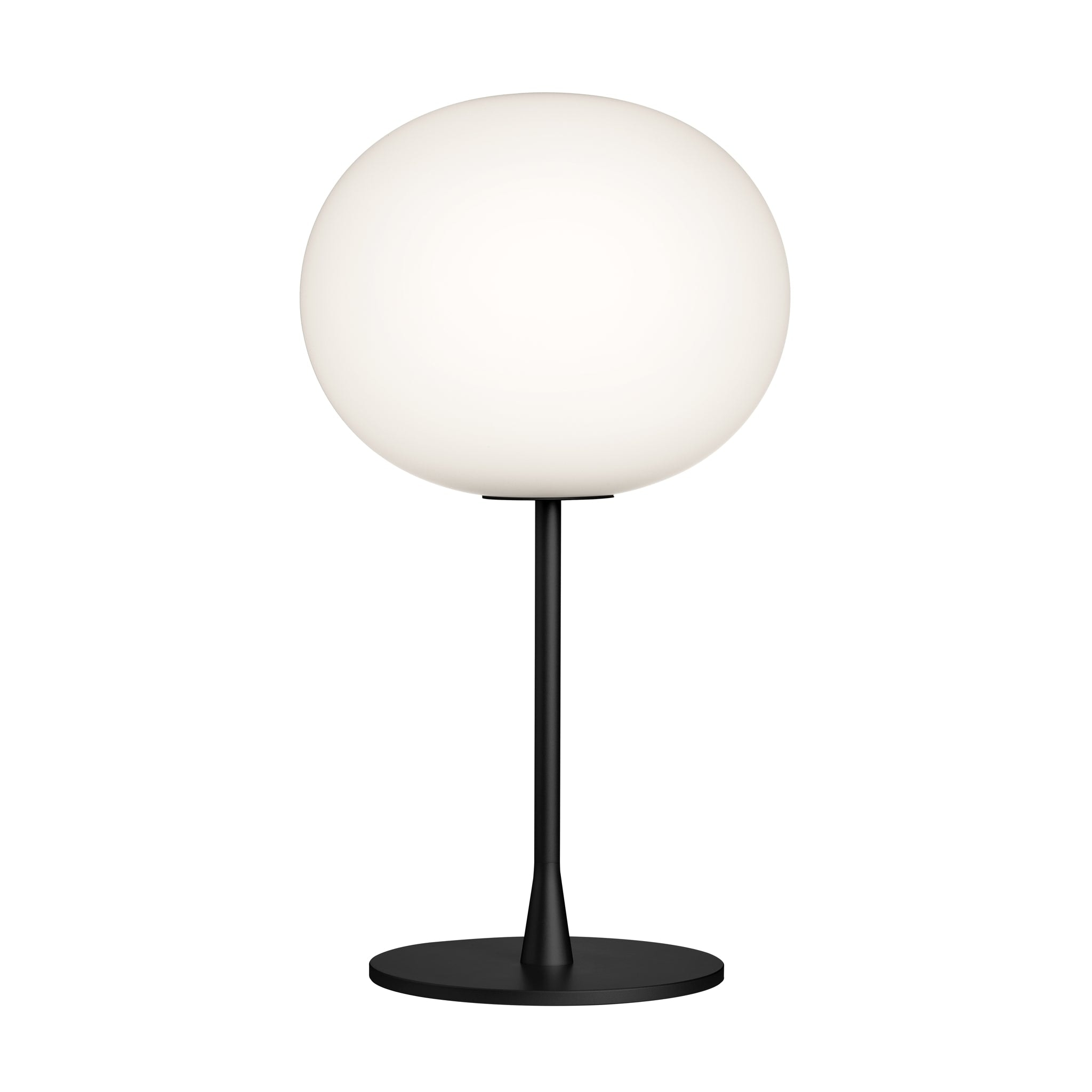 Glo Ball Matt Black Table Lamp by Flos
