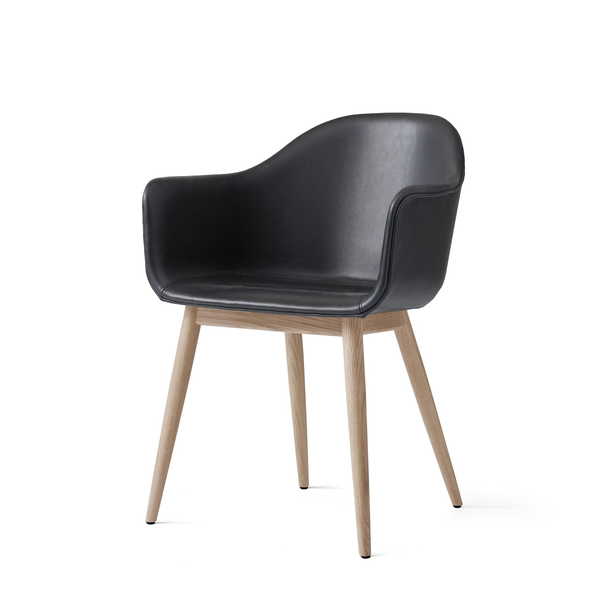 Harbour Chair Upholstered with Wood Base by Menu