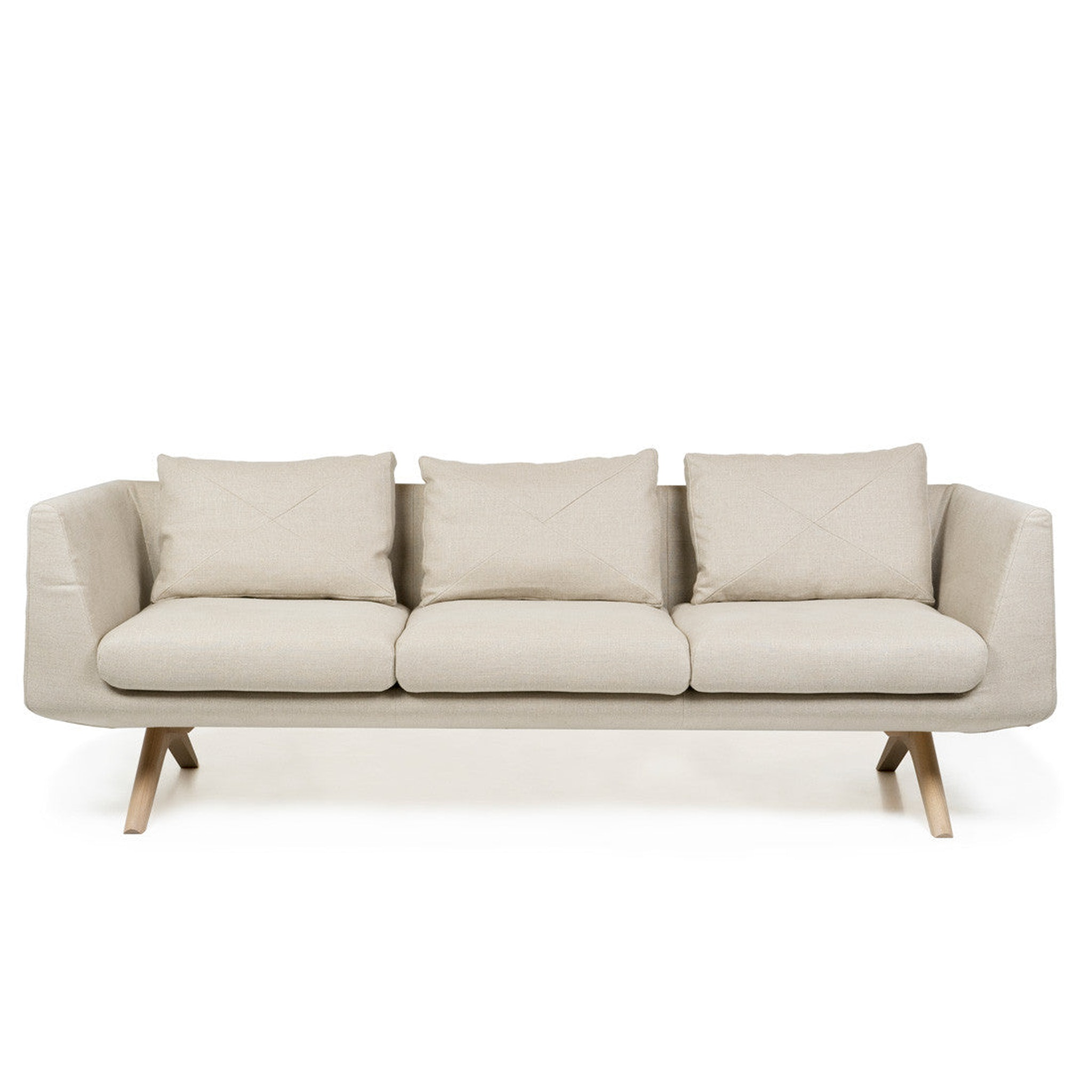 Hepburn Fixed Three Seater Sofa by Matthew Hilton