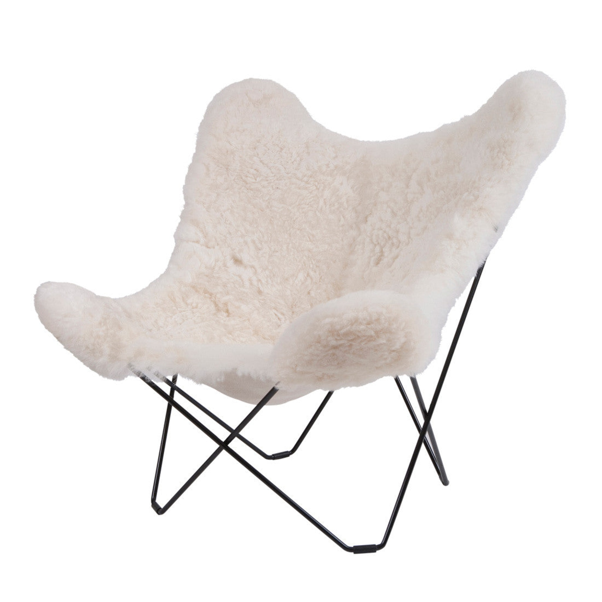 Mariposa Butterfly Lambskin Chair by Cuero