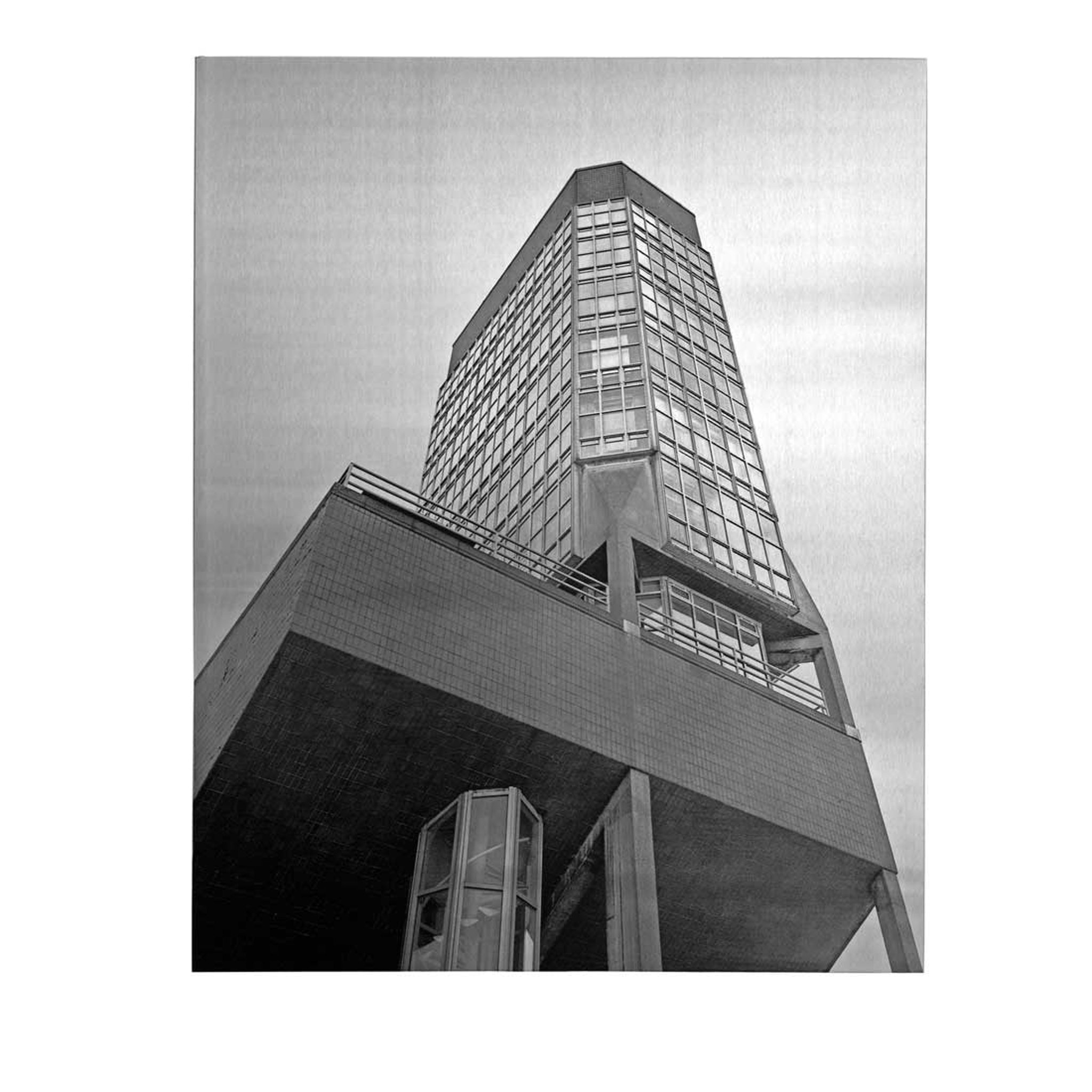 Leicester University Engineering Building Print by Simon Phipps