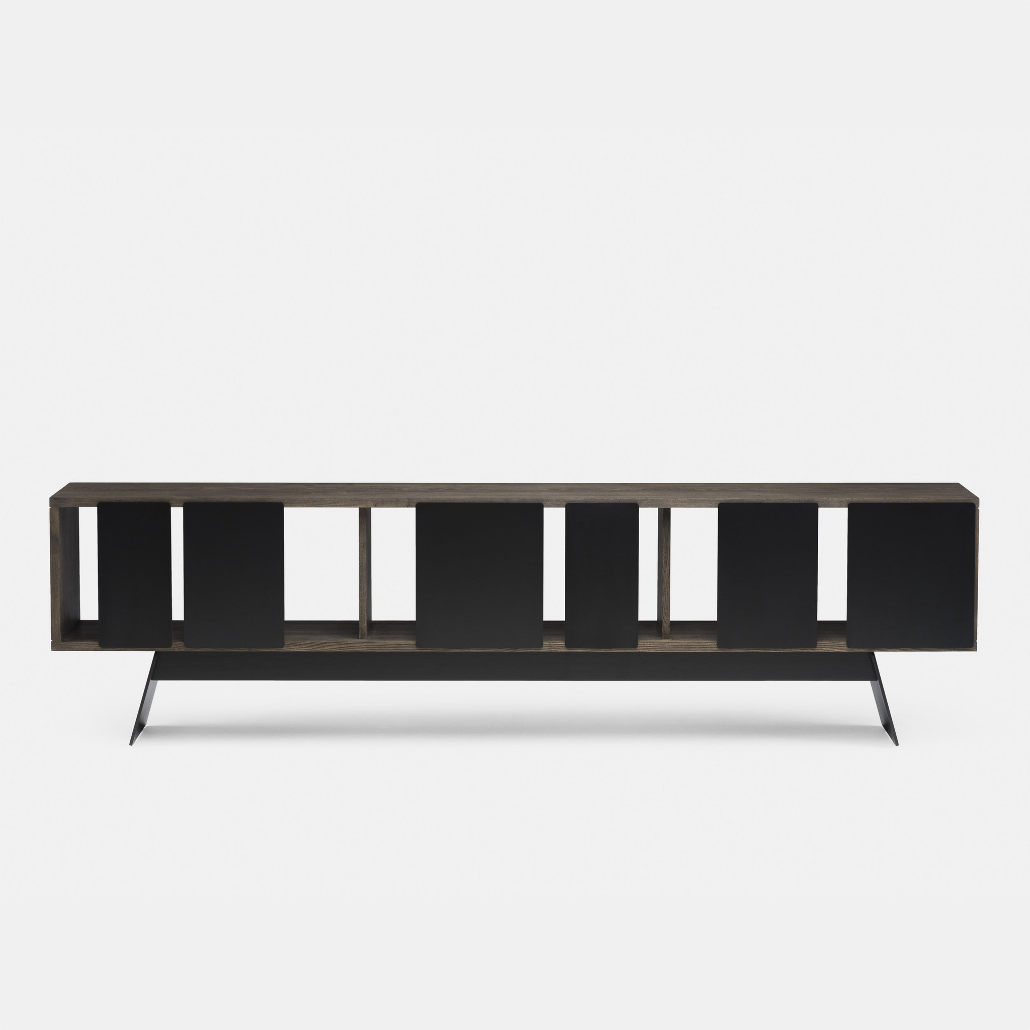Different Trains Cabinet with Black Doors by Matthew Hilton