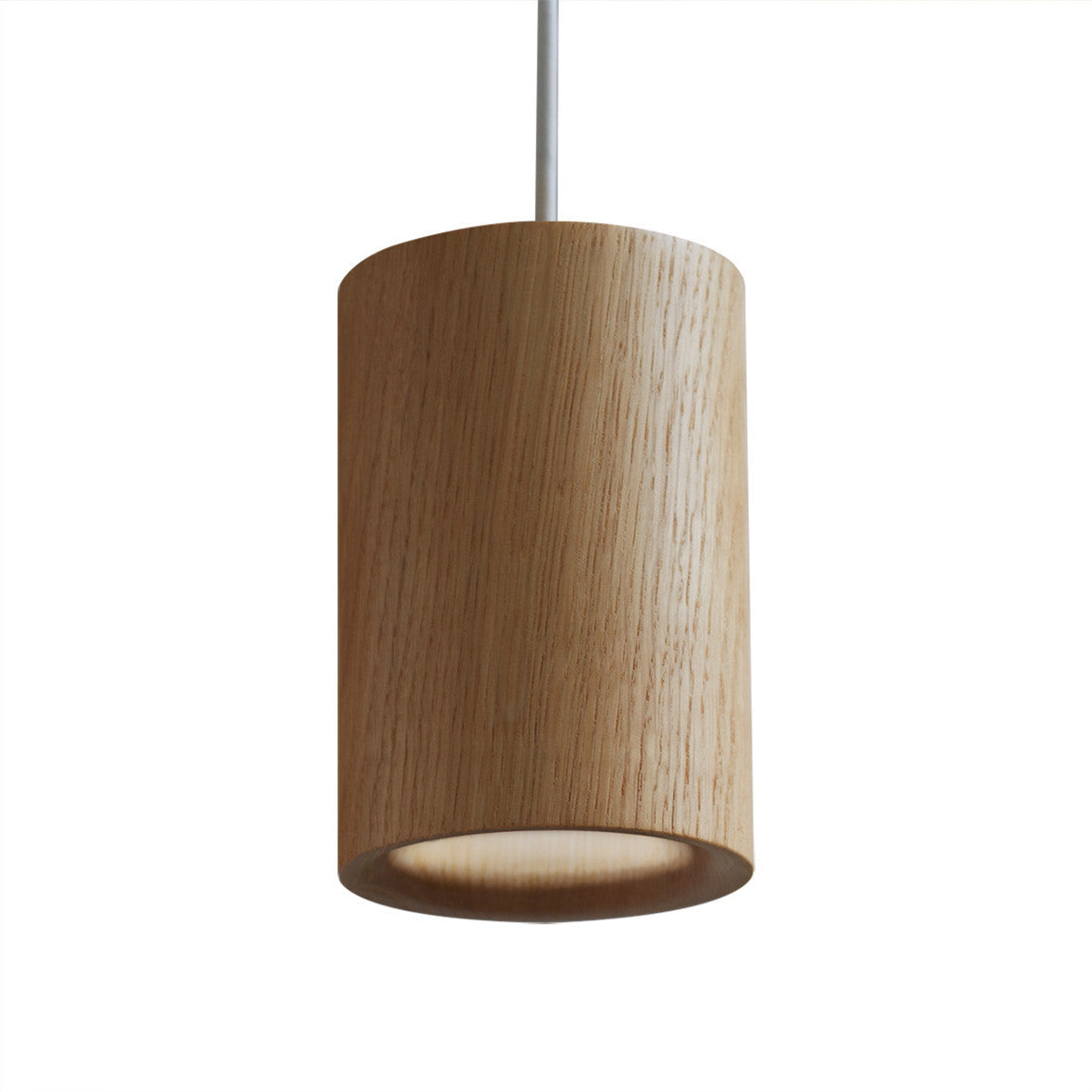 Solid Pendant Cylinder - Wood by Terence Woodgate