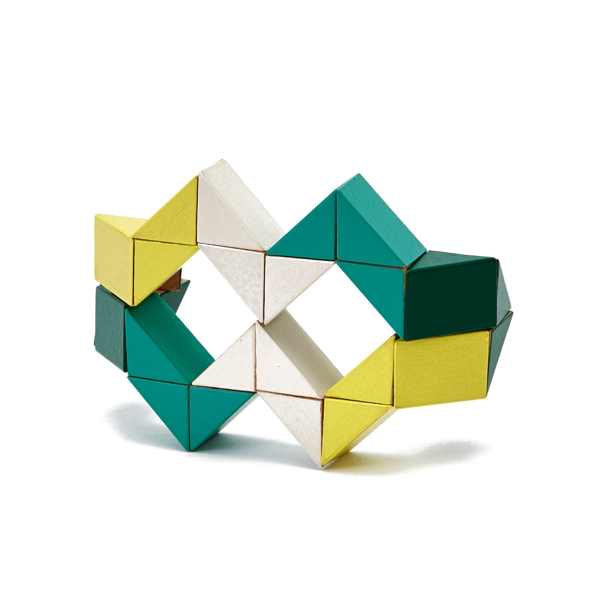 Yellow and Green Snake Blocks by Areaware