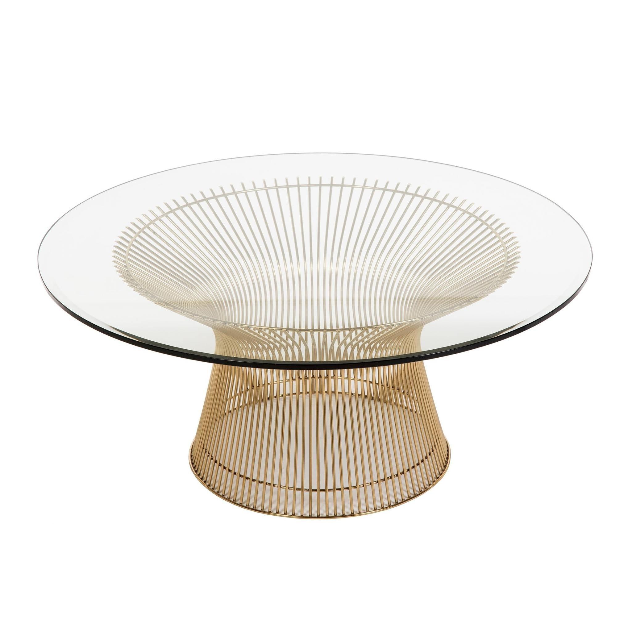 Platner Coffee Table in Gold by Knoll