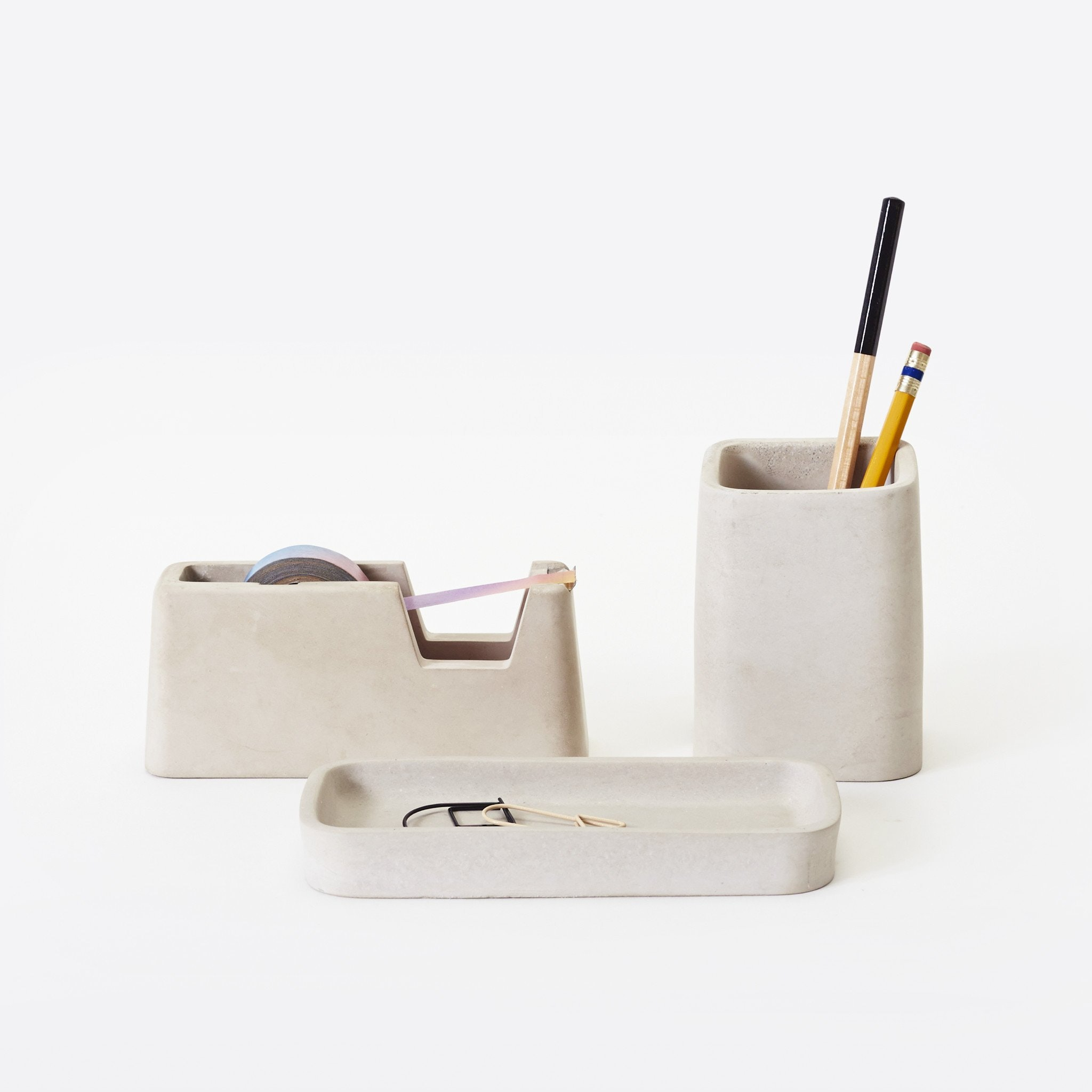 Concrete Desk Set by Magnus Pettersen