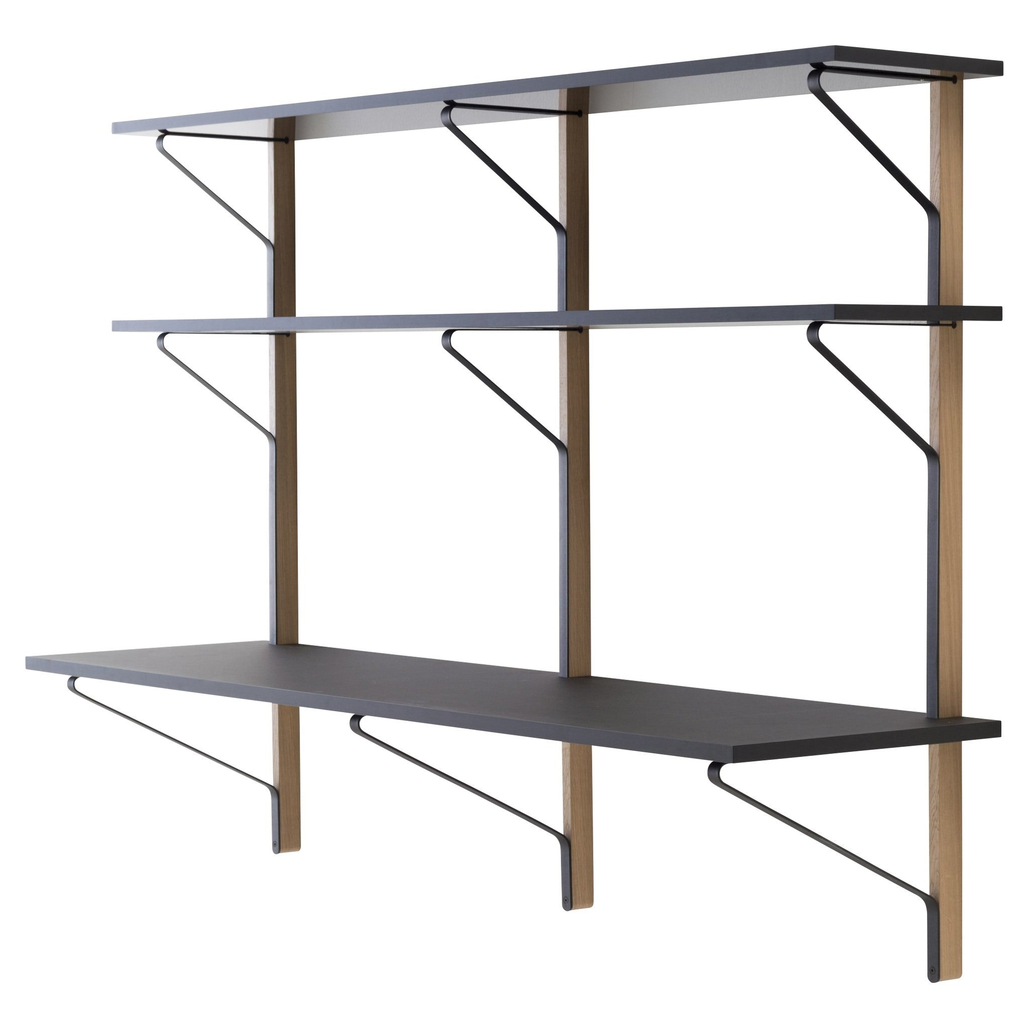 Kaari Shelf with Desk by Artek