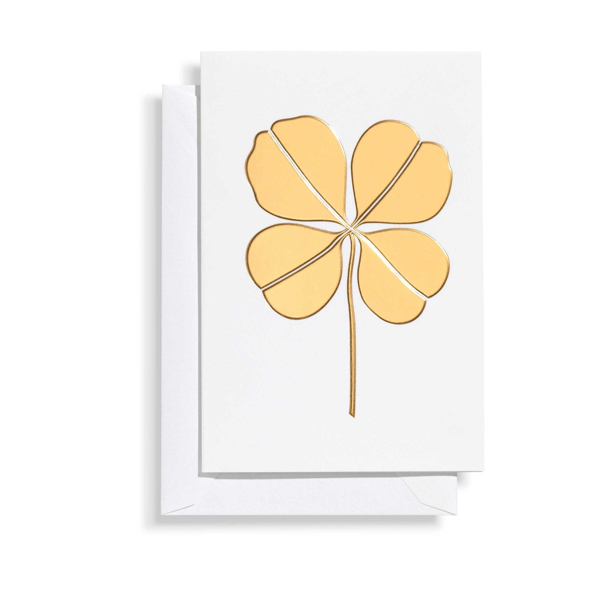 Four Leaf Clover Card - Gold by Vitra