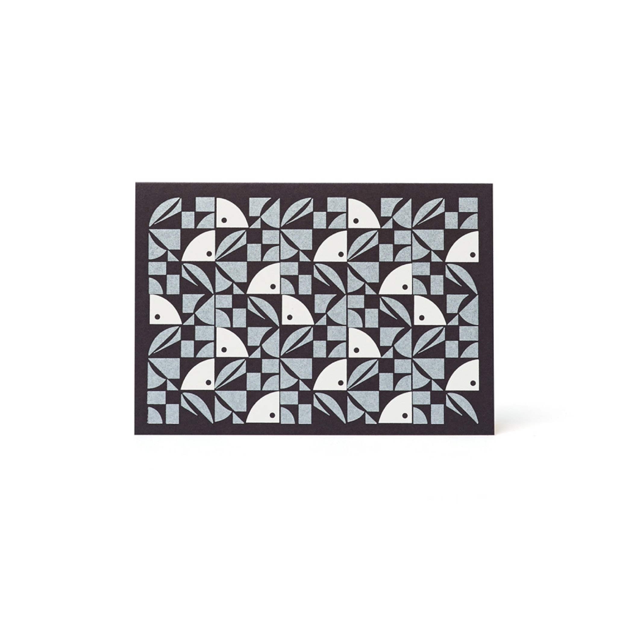 Bloom Letterpress Card - Navy and Silver by Esme Winter