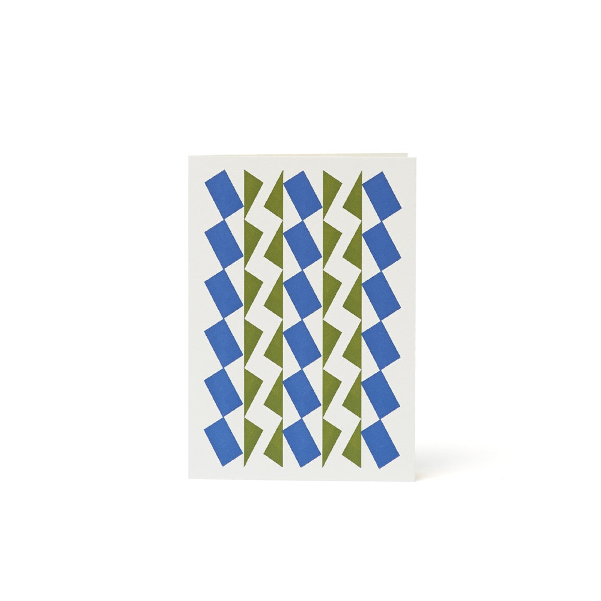 Dancers Letterpress Card - Cornish Blue and Olive by Esme Winter