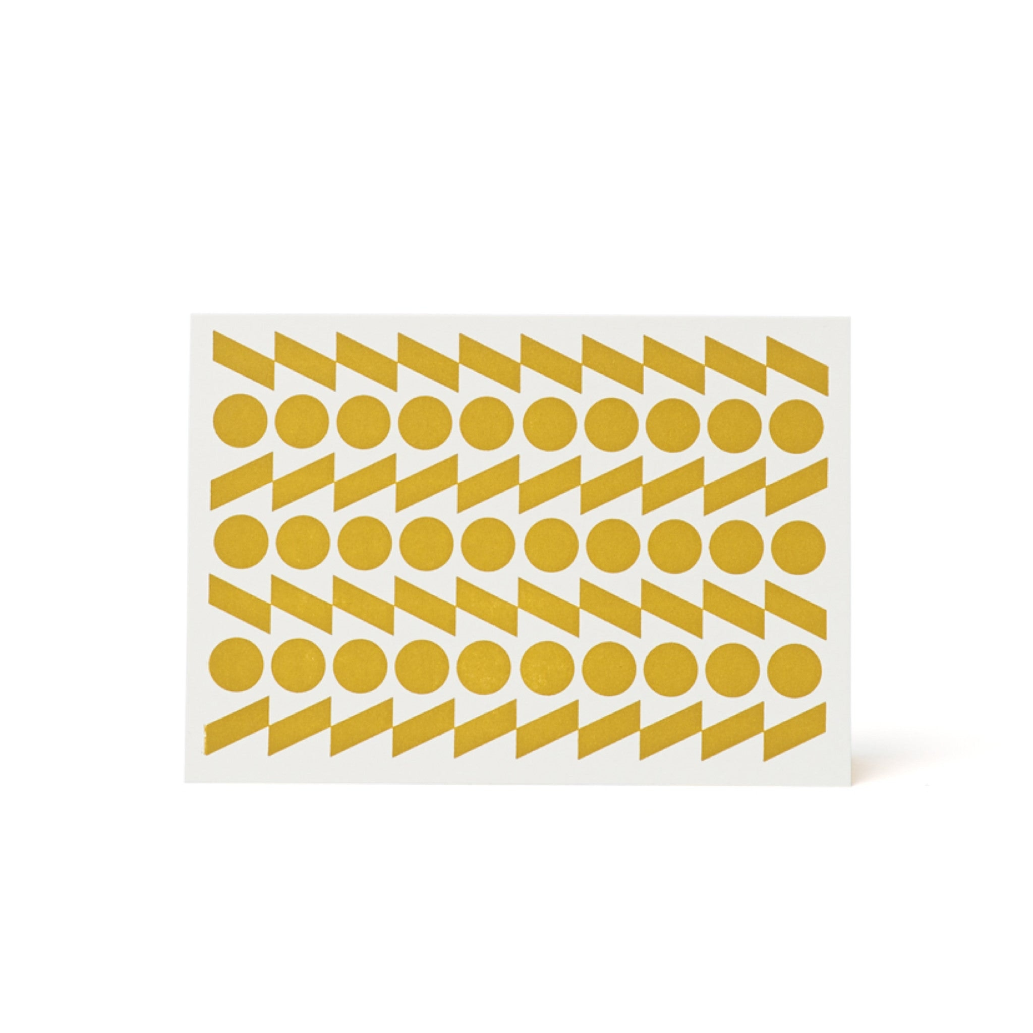 Rythym Letterpress Card - Yellow Ochre by Esme Winter
