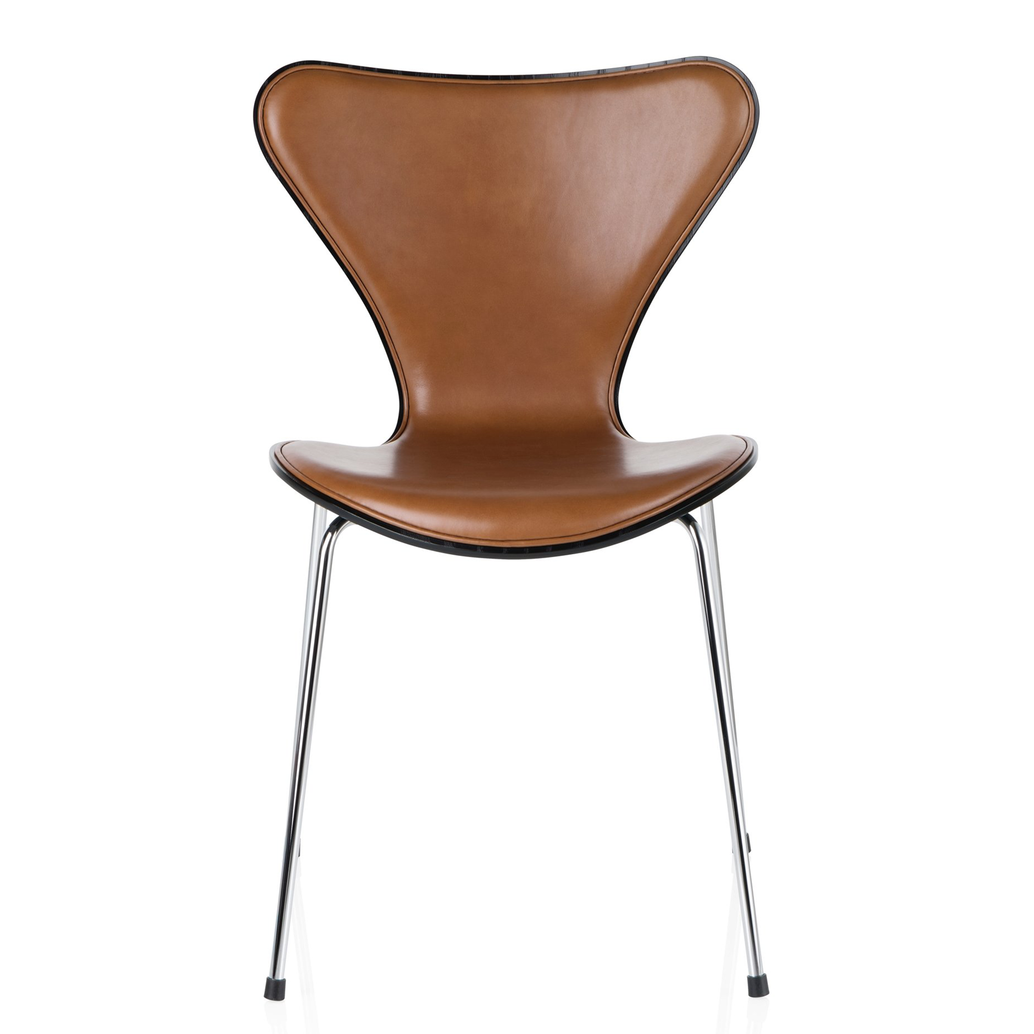 Series 7 Front Upholstered Chair Leather by Fritz Hansen