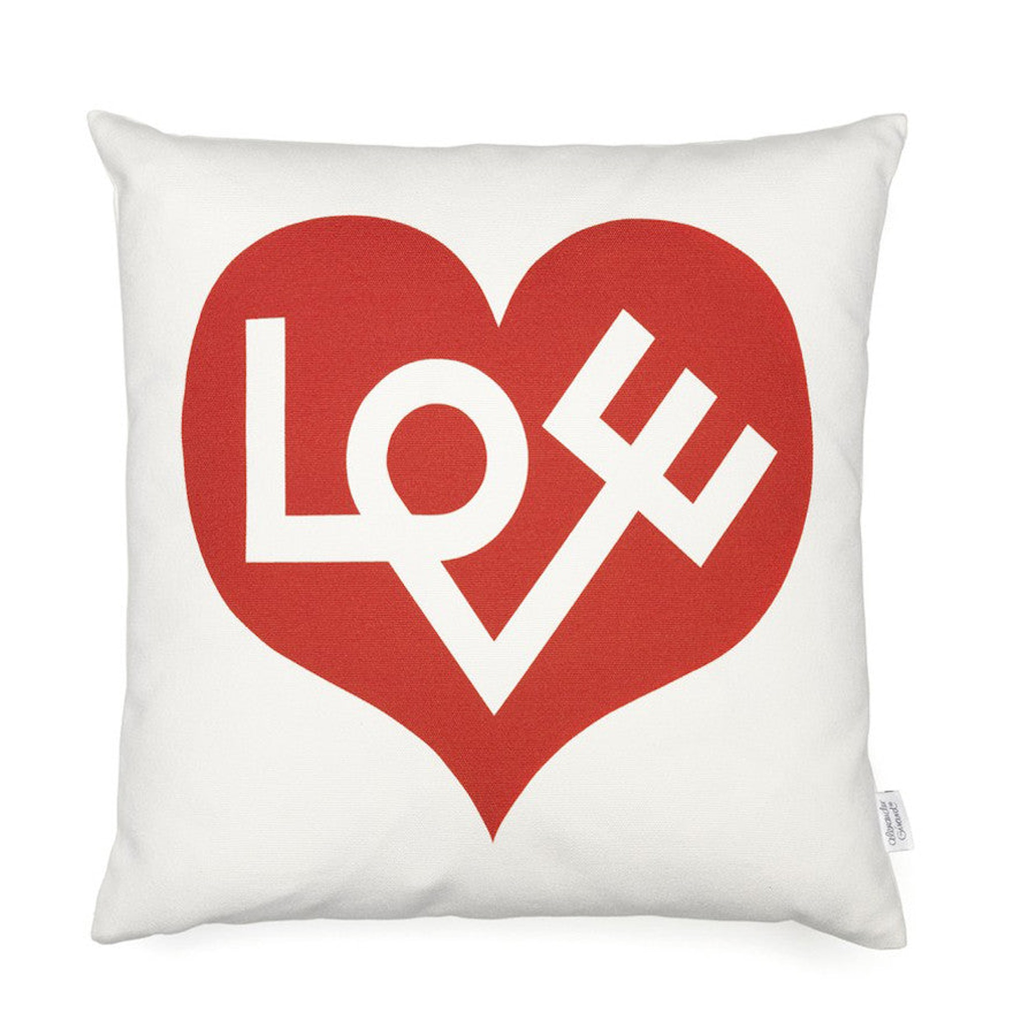 Vitra Graphic Print Pillow - Love by Alexander Girard