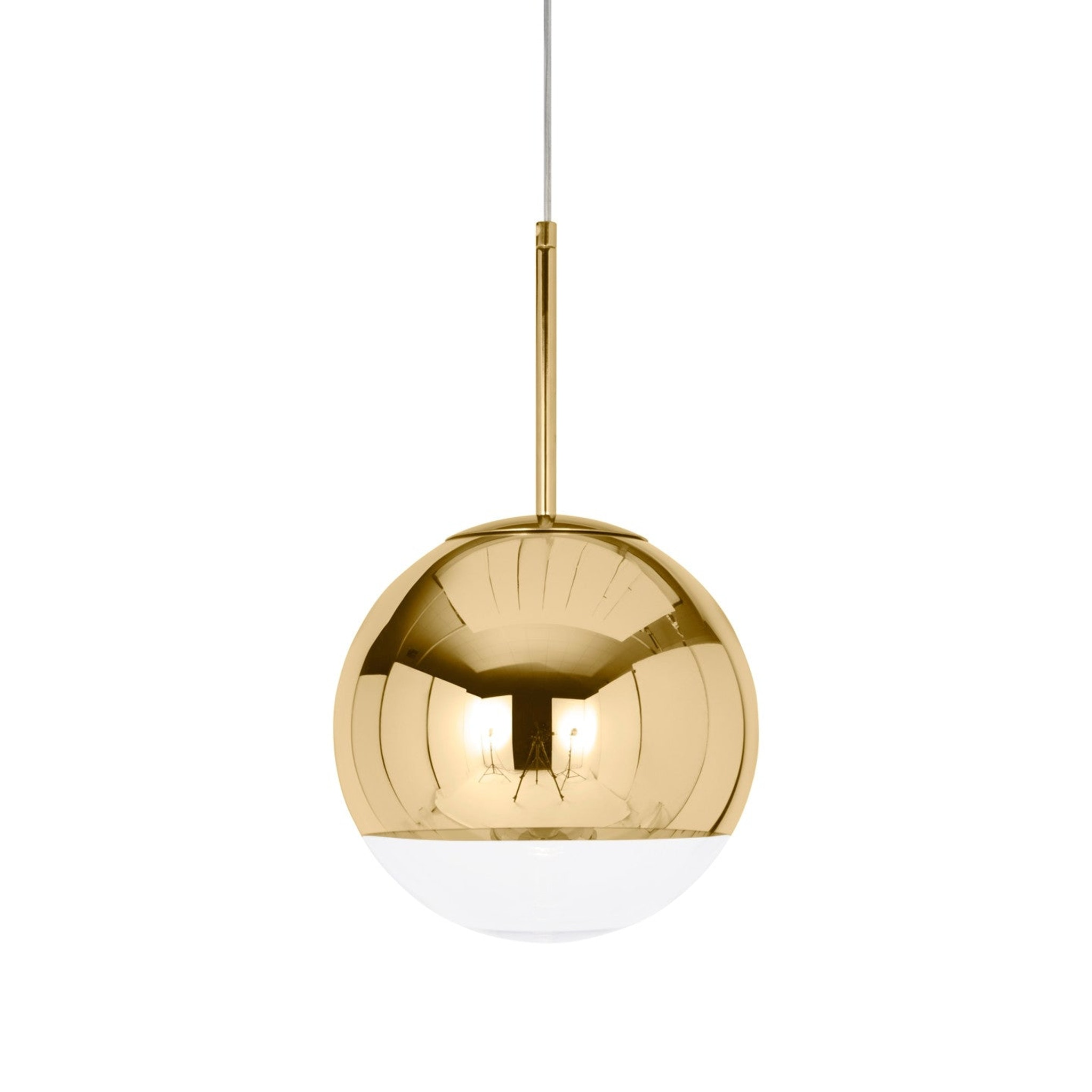 Mirror Ball Gold Pendant by Tom Dixon