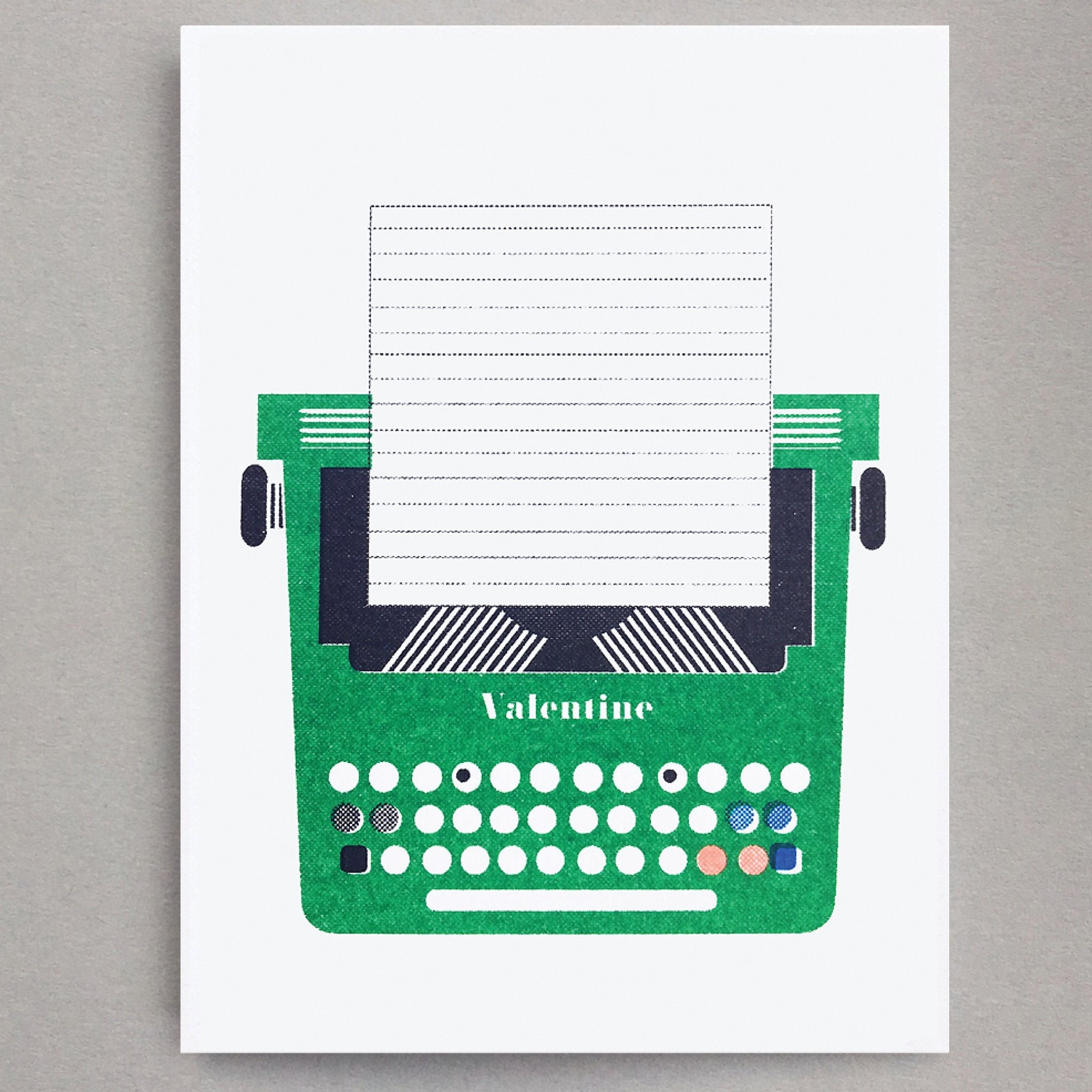 Olivetti Typewriter Mini Card by Scout Editions