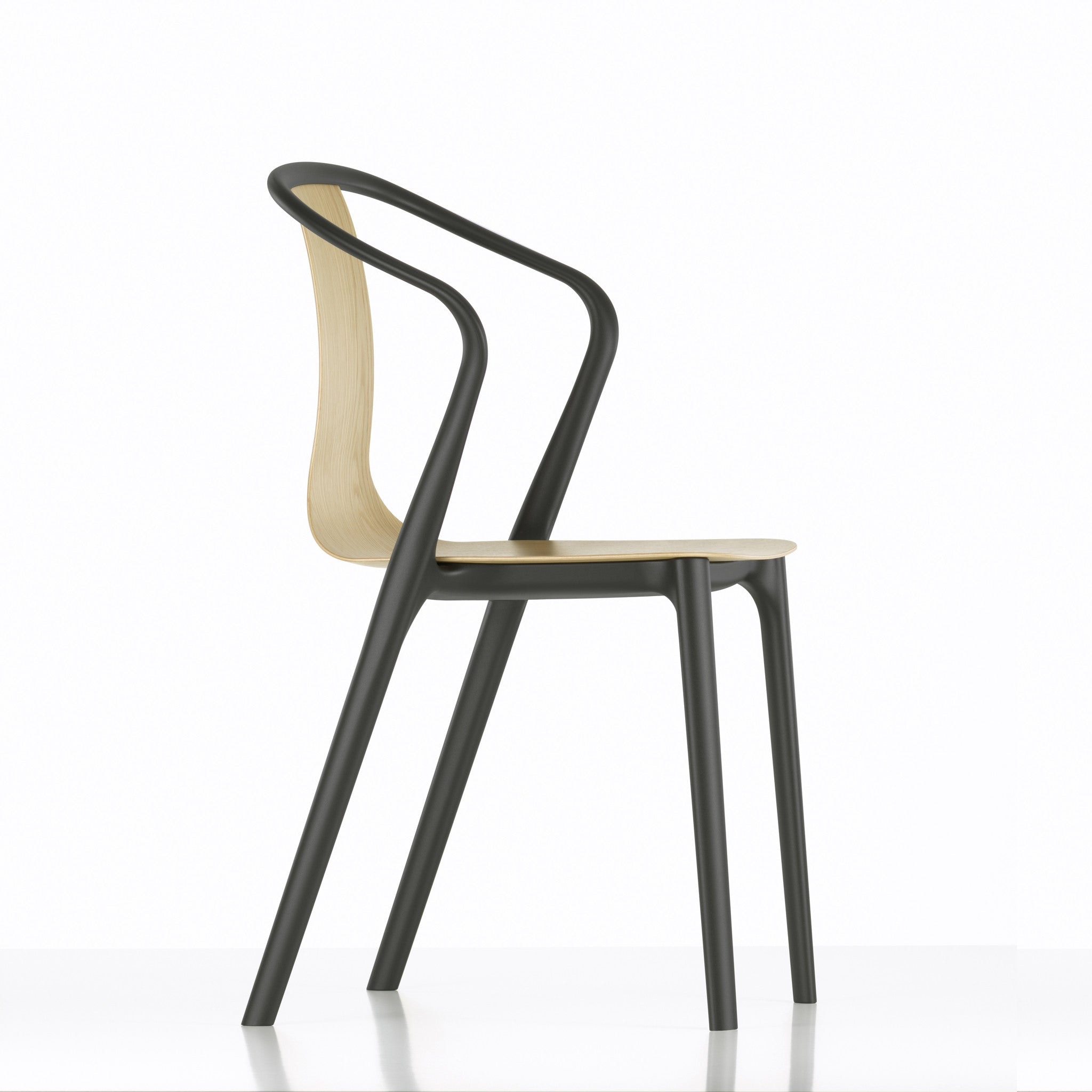 Belleville Armchair Wood by Vitra