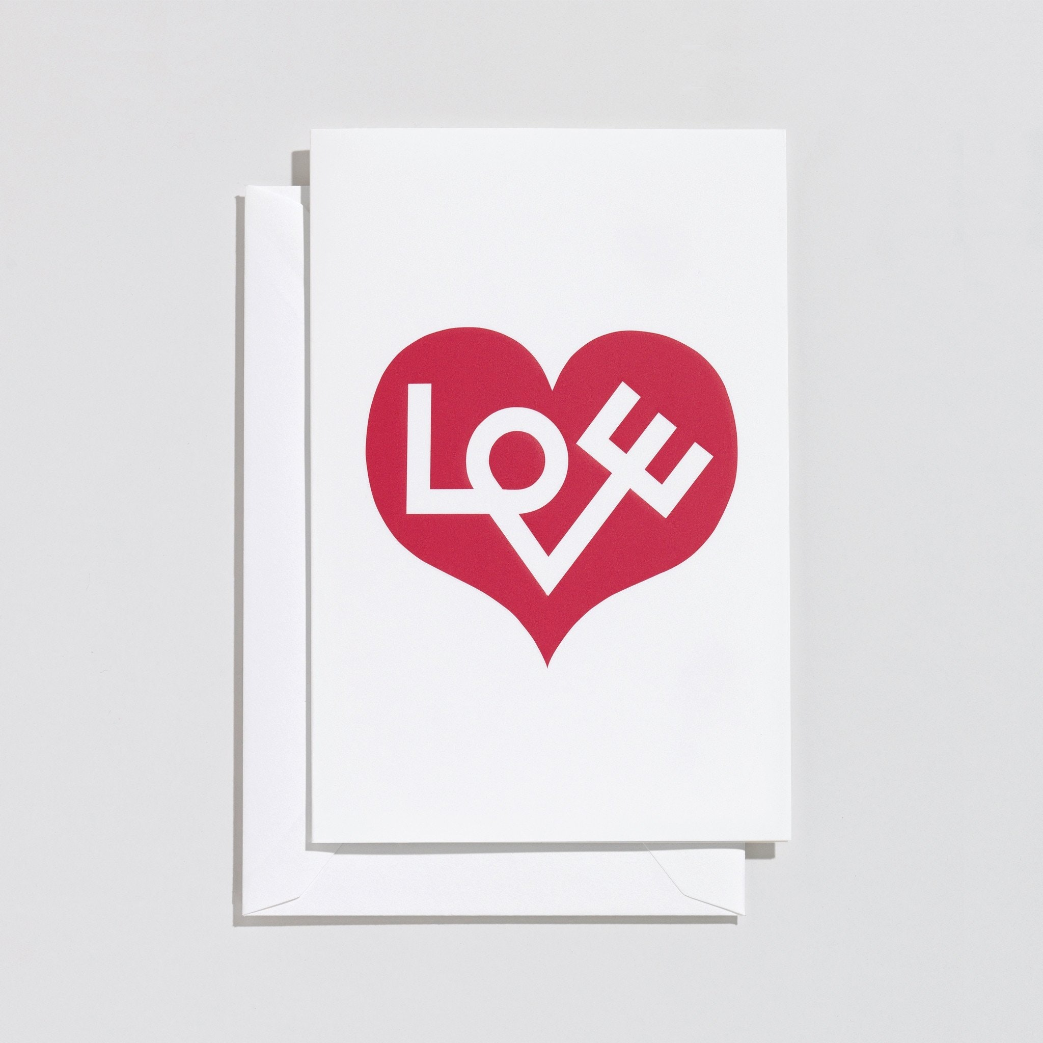 Love Heart Card - Red by Vitra